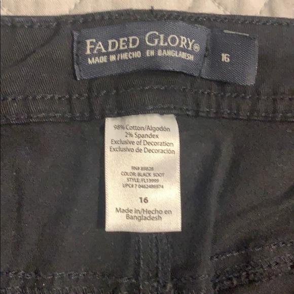2 Faded Glory Girls/' Super Skinny//Skinny Jeans Blue//Black Sz 14